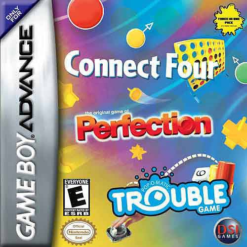 Connect Four  Perfection  Trouble - Game Boy Advance