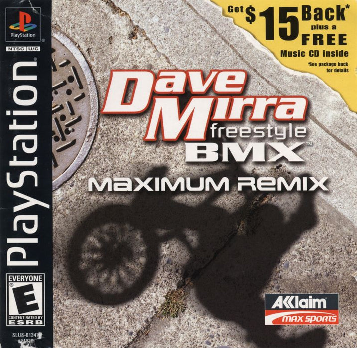 Dave Mirra Freestyle BMX Maximum Remix - PlayStation 1