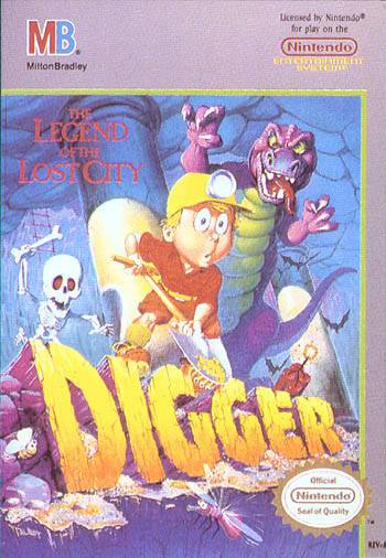 Digger T. Rock The Legend of the Lost City - Nintendo Entertainment System
