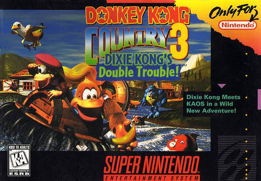 Donkey Kong Country 3 Dixie Kongs Double Trouble - Super Nintendo Entertainment System