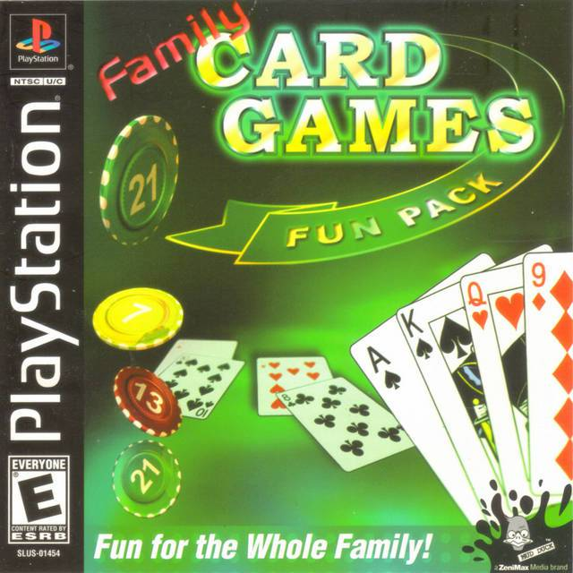 Family Card Game Fun Pack - PlayStation 1