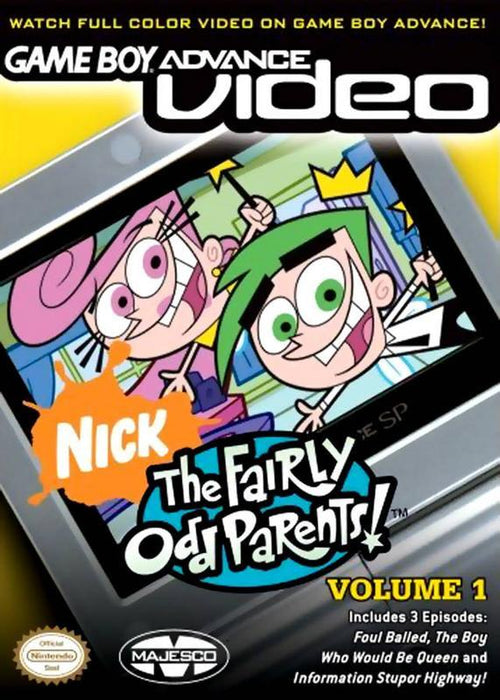 Game Boy Advance Video The Fairly OddParents! - Volume 1 - Game Boy Advance