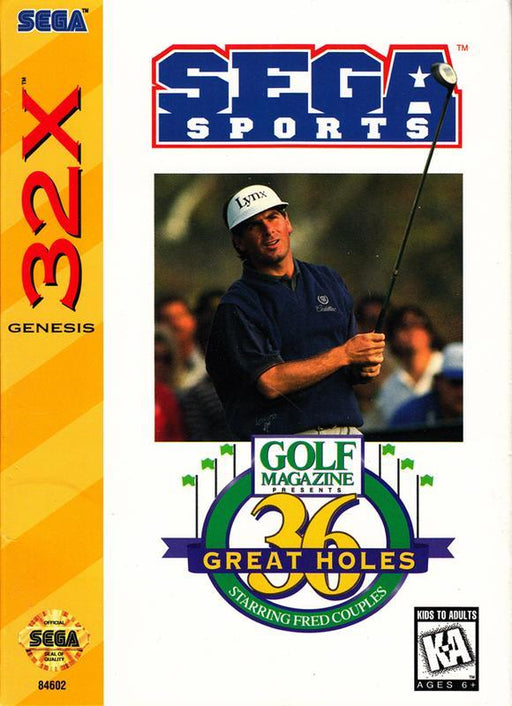 Golf Magazine 36 Great Holes Starring Fred Couples - Sega 32X