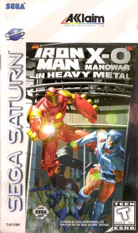 Iron Man  X-O Manowar in Heavy Metal - Sega Saturn