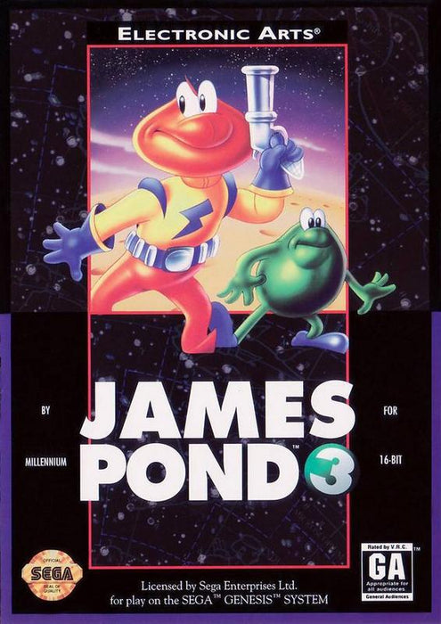 James Pond 3 Operation Starfish - Sega Genesis
