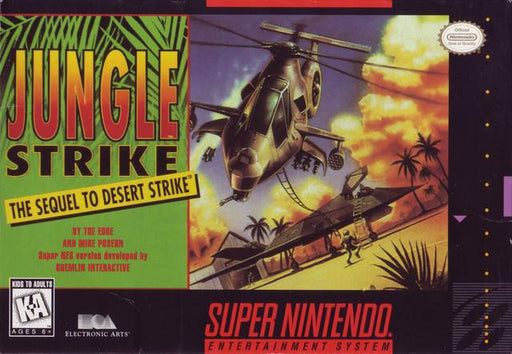 Jungle Strike - Super Nintendo Entertainment System
