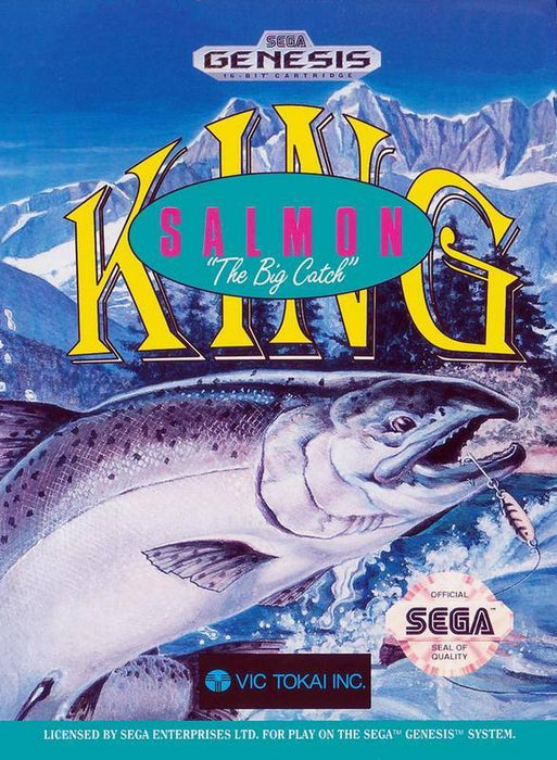 King Salmon The Big Catch - Sega Genesis