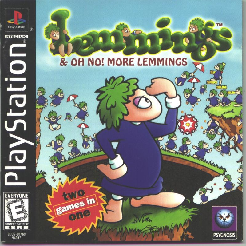 Lemmings & Oh No! More Lemmings - PlayStation 1
