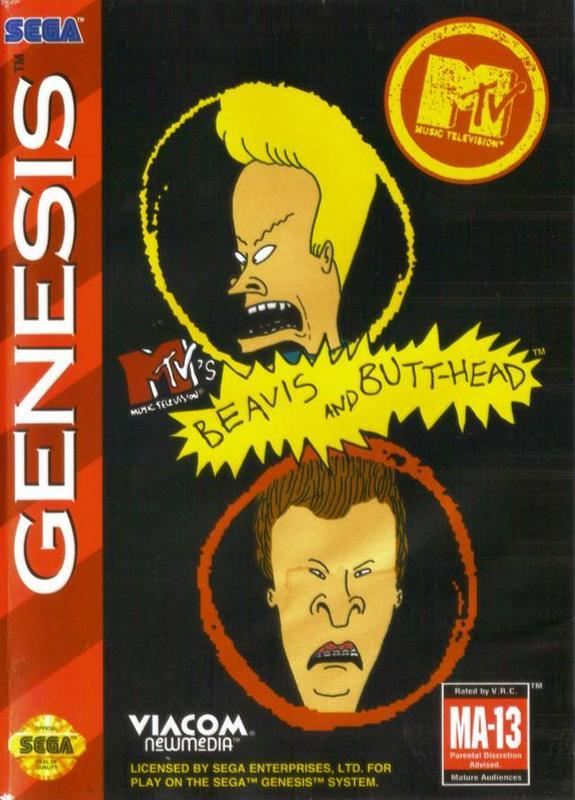 MTVs Beavis and Butt-head - Sega Genesis