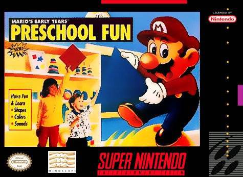 Marios Early Years Preschool Fun - Super Nintendo Entertainment System