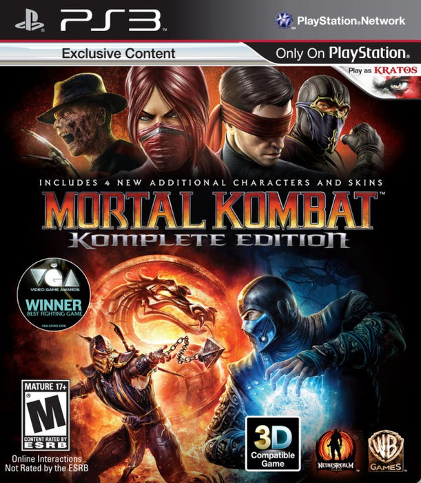 Mortal Kombat Komplete Edition - PlayStation 3