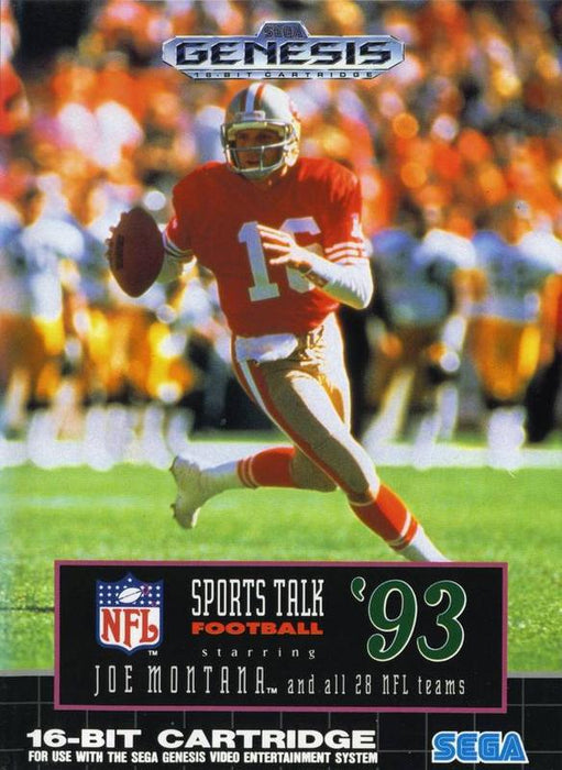 NFL Sports Talk Football 93 Starring Joe Montana - Sega Genesis