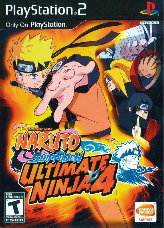 Naruto Shippuden Ultimate Ninja 4 - PlayStation 2