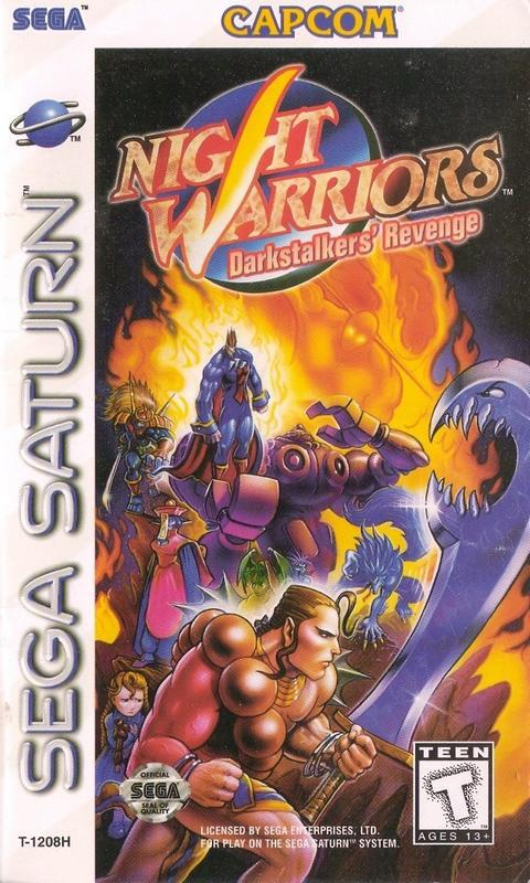 Night Warriors Darkstalkers Revenge - Sega Saturn