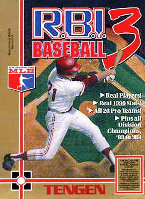 R.B.I. Baseball 3 - Nintendo Entertainment System