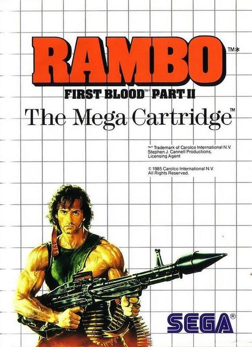 Rambo First Blood Part II - Sega Master System