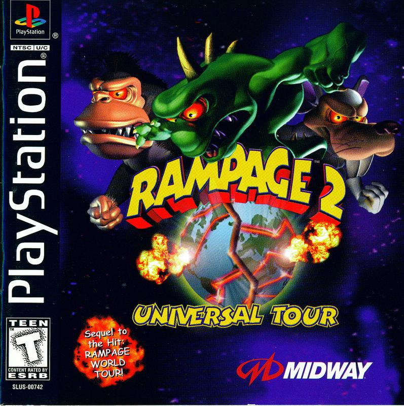 Rampage 2 Universal Tour - PlayStation 1