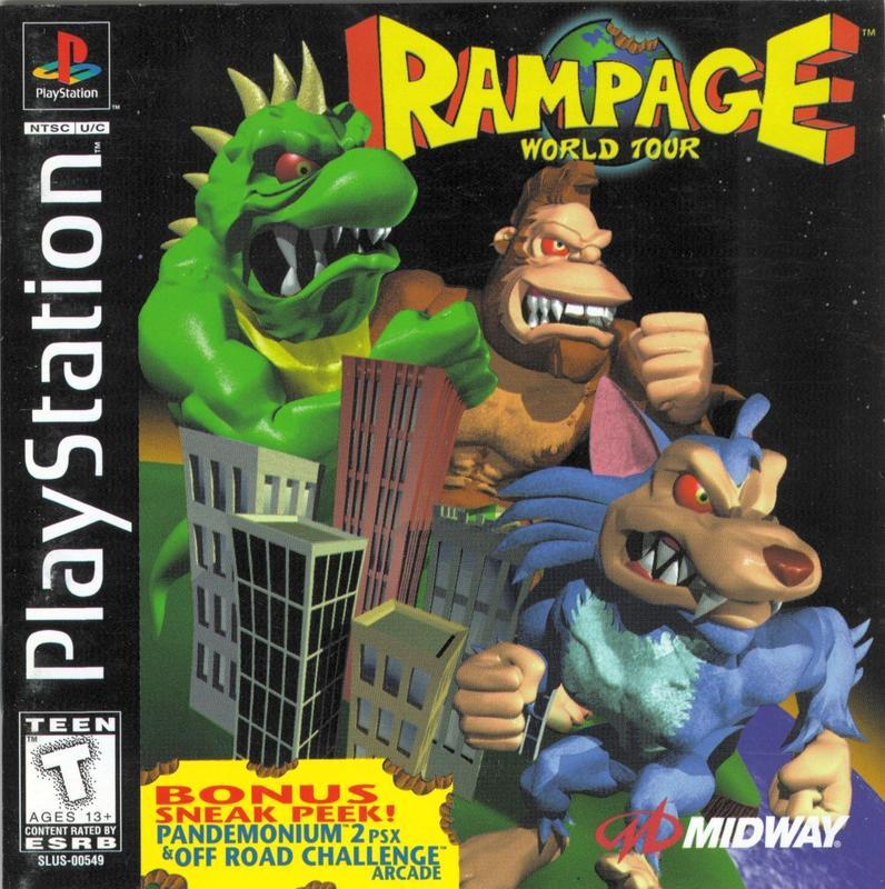 Rampage World Tour - PlayStation 1