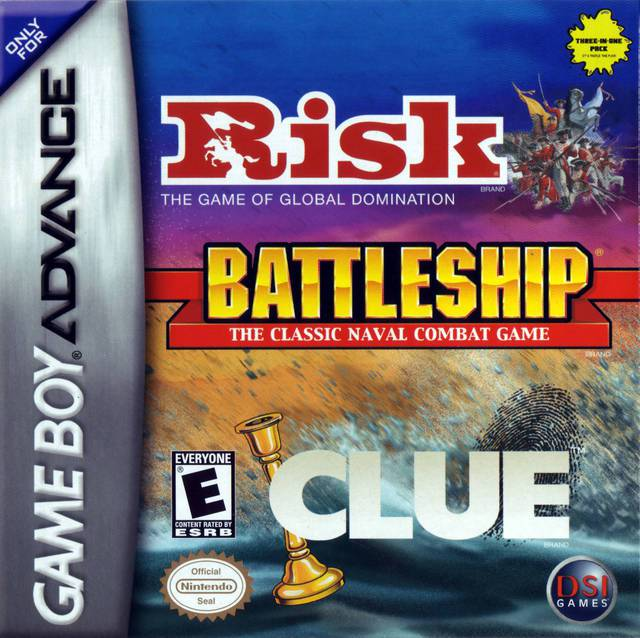 Risk  Battleship  Clue - Game Boy Advance