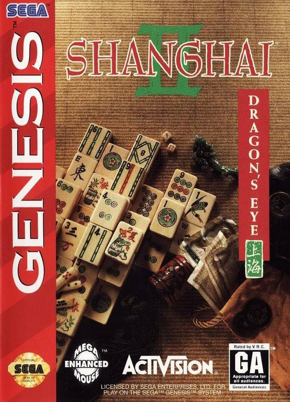Shanghai II Dragons Eye - Sega Genesis
