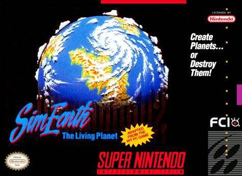 SimEarth The Living Planet - Super Nintendo Entertainment System