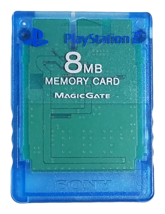 Sony PlayStation 2 - 8mb Memory Card – Magic Gate – Blue