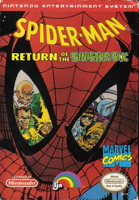 Spider-Man Return of the Sinister Six - Nintendo Entertainment System