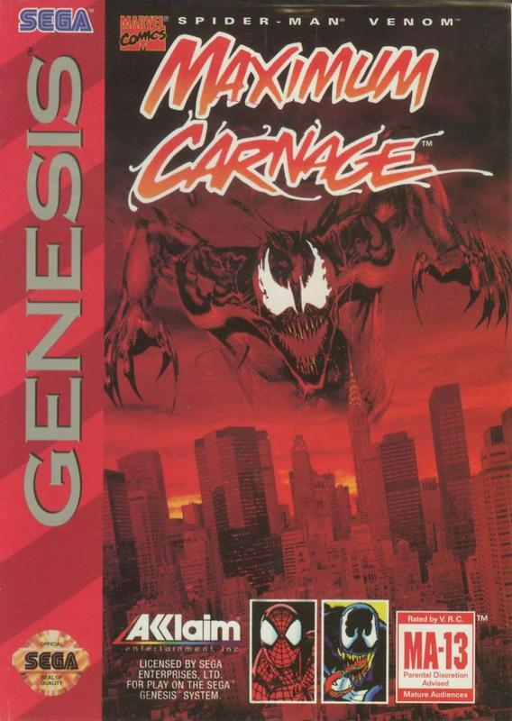 Spider-Man & Venom Maximum Carnage - Sega Genesis