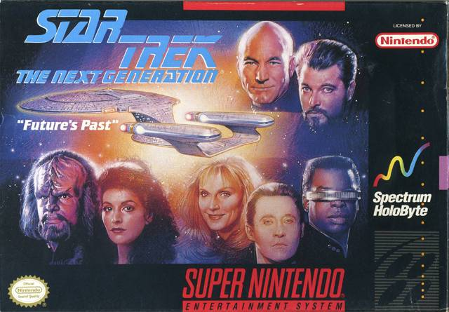 Star Trek The Next Generation - Futures Past - Super Nintendo Entertainment System