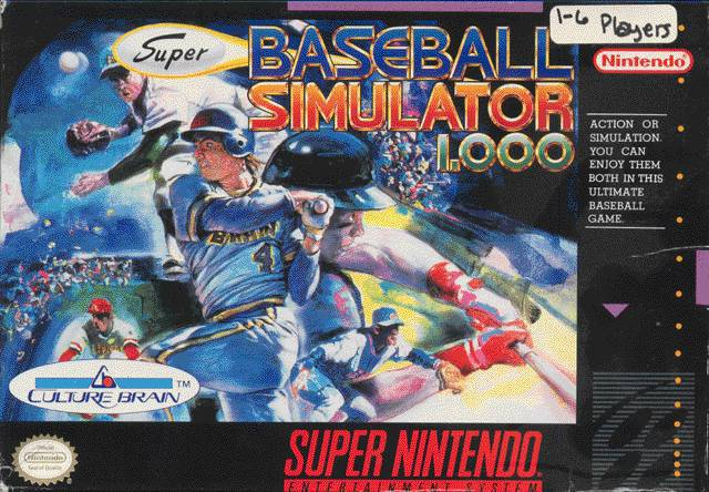 Super Baseball Simulator 1.000 - Super Nintendo Entertainment System