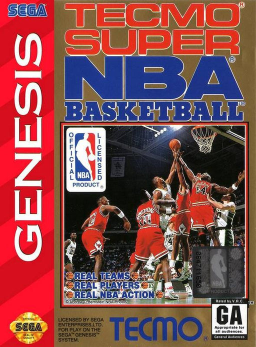 Tecmo Super NBA Basketball - Sega Genesis