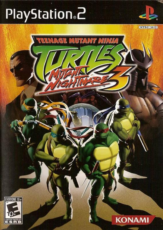 Teenage Mutant Ninja Turtles 3 Mutant Nightmare - PlayStation 2