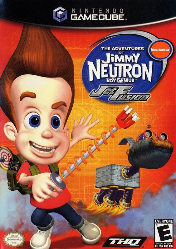 The Adventures of Jimmy Neutron Boy Genius Jet Fusion - Gamecube