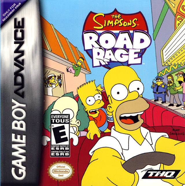 The Simpsons Road Rage - Game Boy Advance