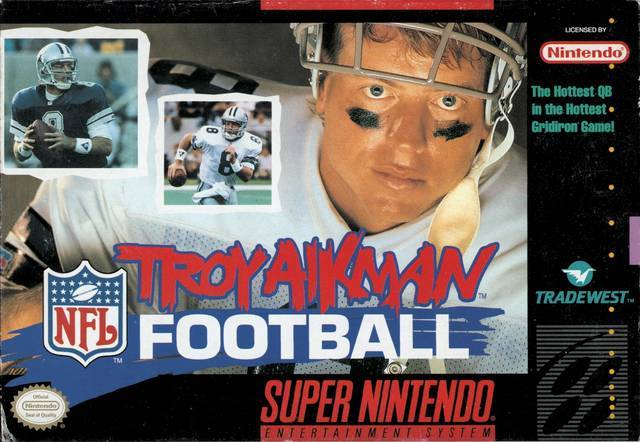 Troy Aikman NFL Football - Super Nintendo Entertainment System