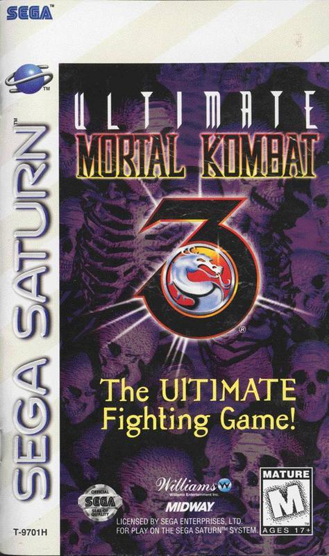 Ultimate Mortal Kombat 3 - Sega Saturn