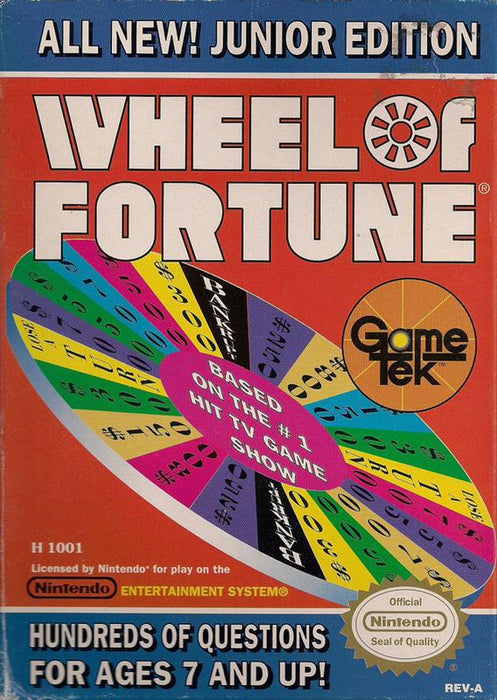 Wheel of Fortune Junior Edition - Nintendo Entertainment System