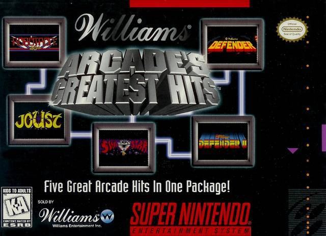 Williams Arcades Greatest Hits - Super Nintendo Entertainment System