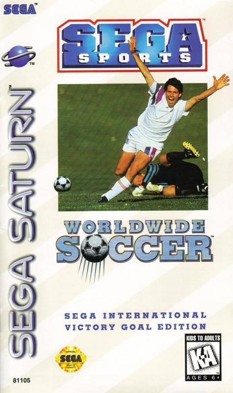 Worldwide Soccer Sega International Victory Goal Edition - Sega Saturn