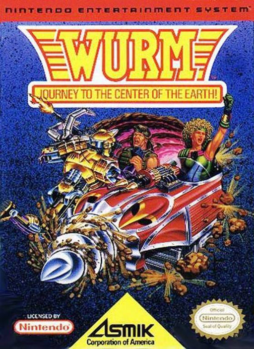 Wurm Journey to the Center of the Earth - Nintendo Entertainment System