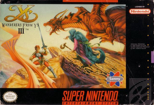 Ys III Wanderers from Ys - Super Nintendo Entertainment System