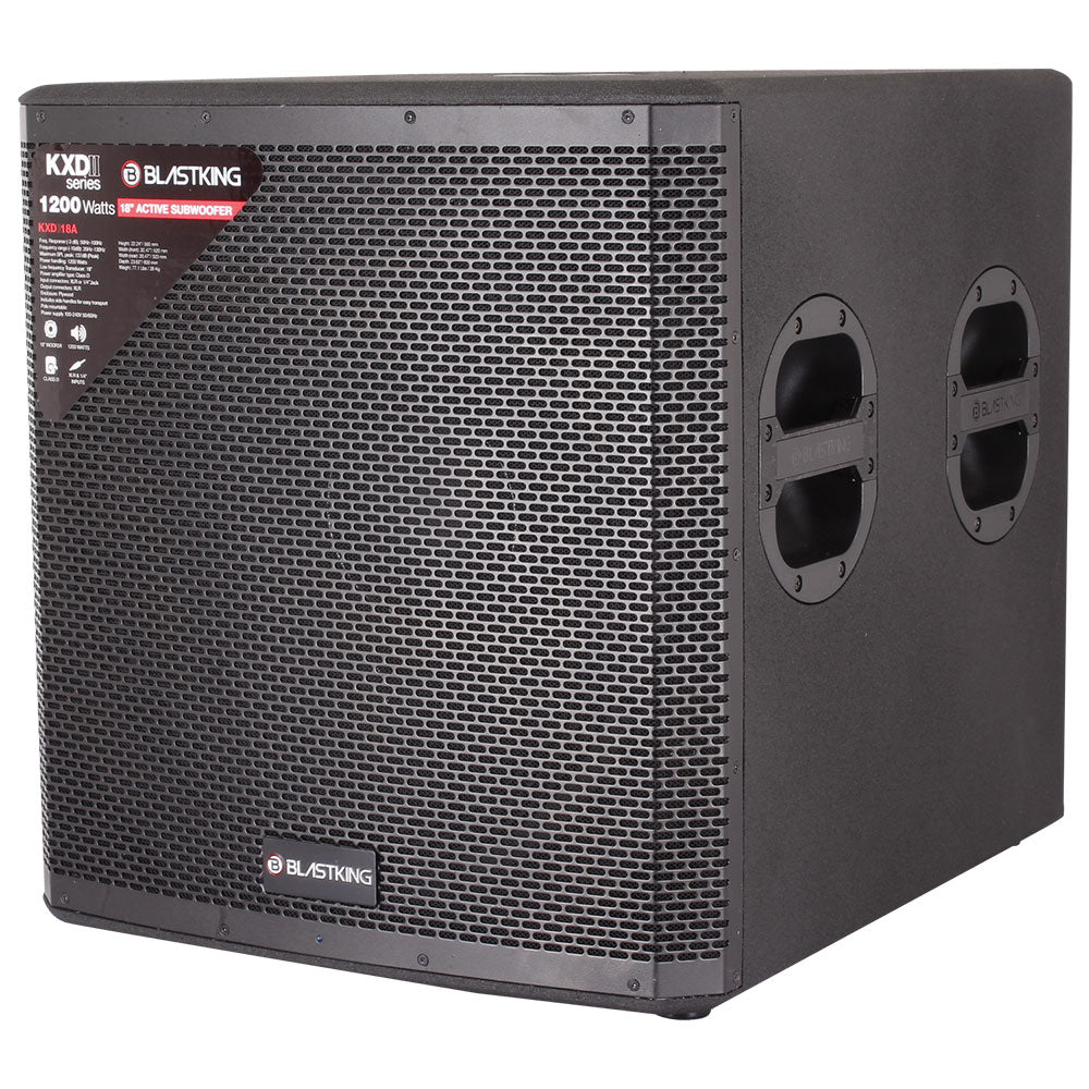 "18"" Active Subwoofer 1200 Watts Class-D Amplifier"