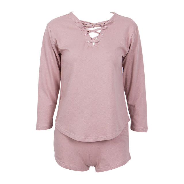 Pink Tracksuit Hoody & Shorts Set