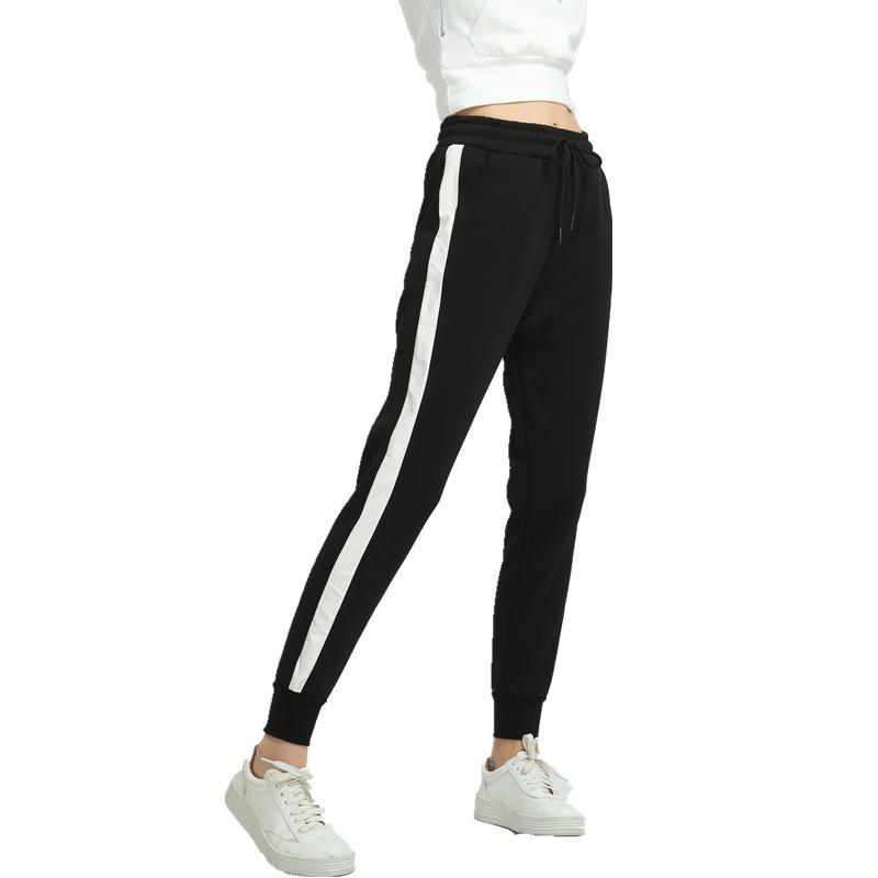 Black Side Striped Sweatpants