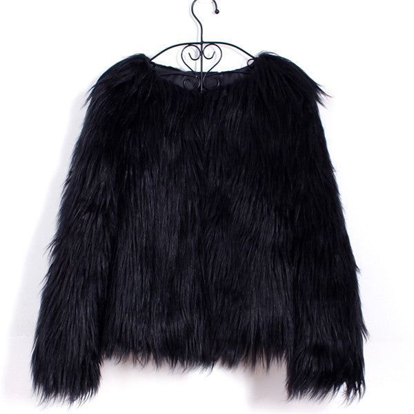 Black Long Haired Fur Coat