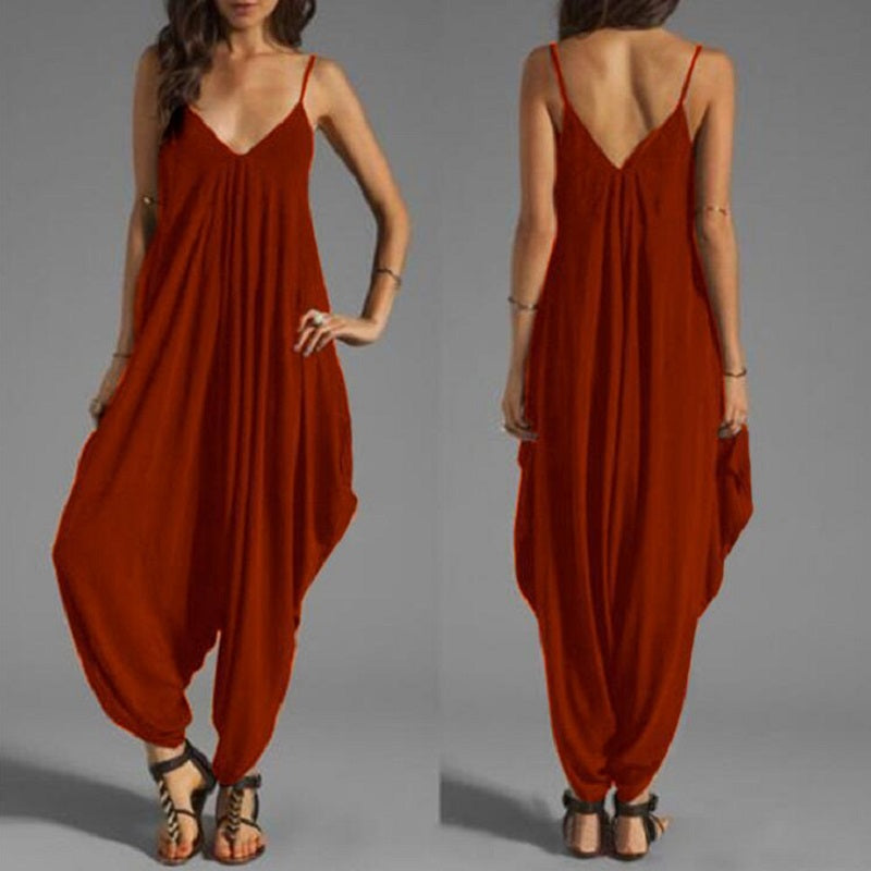 Red Harem Jumpsuits