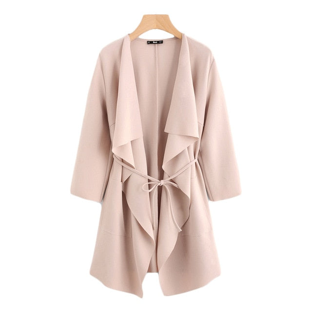 Blush Pink Waterfall Jacket