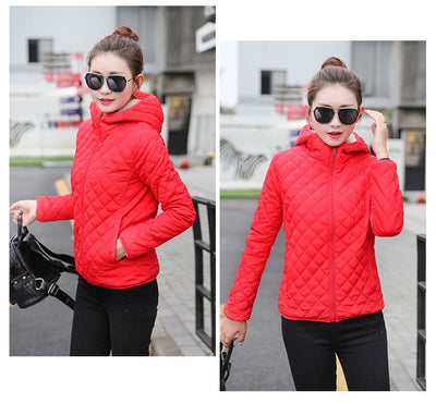 Red Quilted Padded Jacket