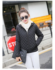 Black Quilted Padded Jacket