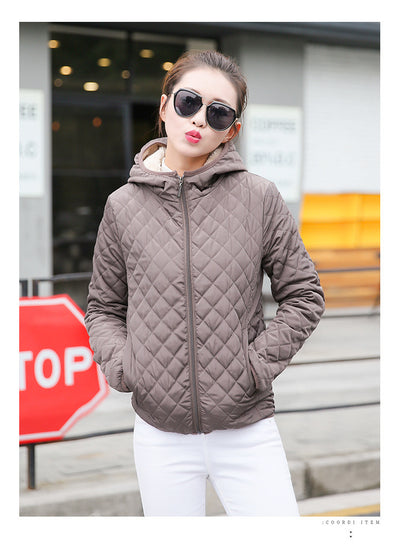 Coffee Quilted Padded Jacket